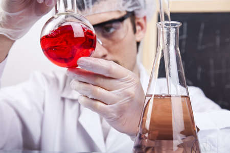 Scientist working in a laboratory  photo