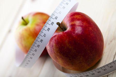 ingridients: Apple and measurement tape