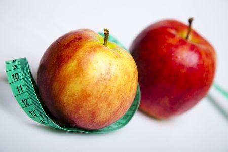 ingridients: On diet - apple and tape measure