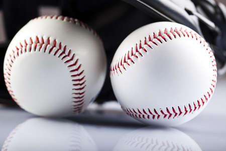 gant de baseball: Gant de baseball et de balle  Banque d'images