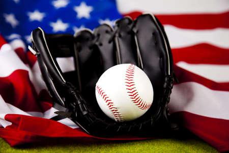 gant de baseball: Ball et gant de baseball