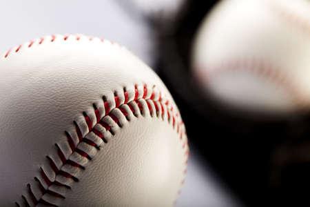 gant de baseball: Gant de baseball avec ball  Banque d'images