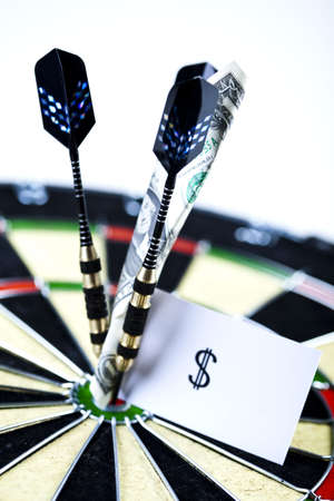 Dart & target Stock Photo