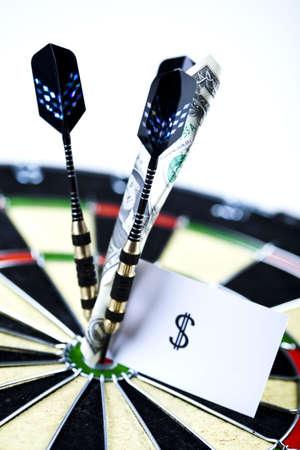 ide: Dart & target Stock Photo