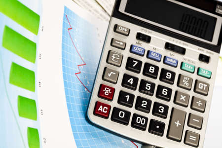 Calculator and diagram Stock Photo - 6537341