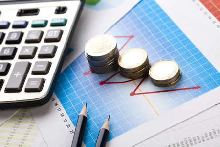 expert comptable: �quilibrer les comptes Banque d'images