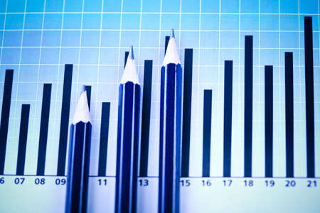 Chart and Pencil Stock Photo - 6537300