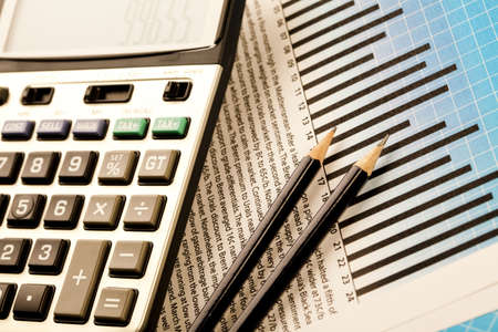 financial paperwork: Calculator