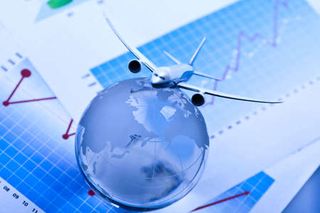Travel concept, airliner Stock Photo - 6540839