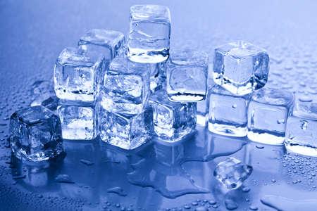 cubetti di ghiaccio: Congelamento di fondo Archivio Fotografico