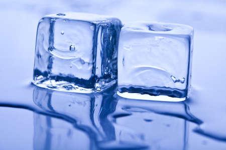 frigid: Blue background Stock Photo