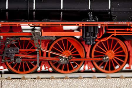 Closeup old locomotive photo