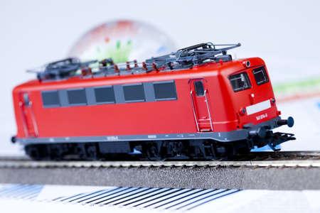 Train and globe photo
