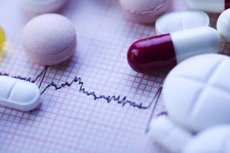 Ekg, drugs, medicines, tablets, pills  Stock Photo - 7383005