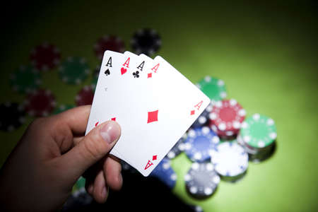 Playing cards in casino Stock Photo - 7382854