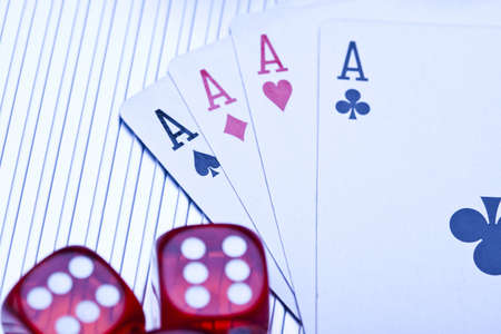 Dice on cards   photo