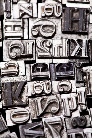 Old metal movable typo photo