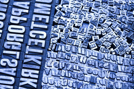 Old metal movable typo Stock Photo - 7382456