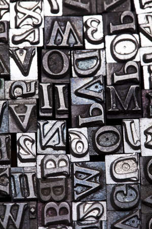 letterpress words: Print, fond, letters