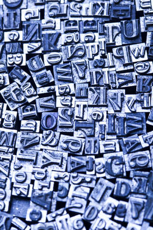 Print, fond, letters photo