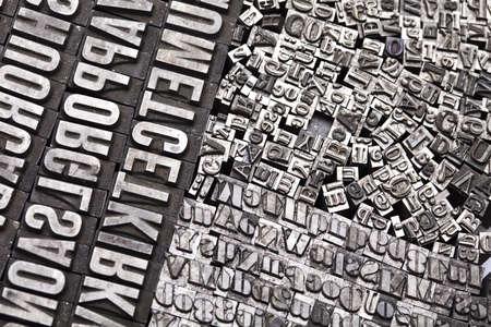 Alphabet and typo photo