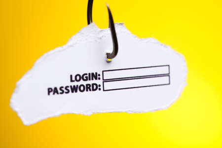 Log-in and password on hook photo