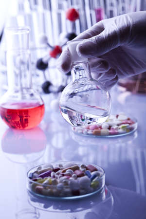 lab technician: Laboratory glass Stock Photo