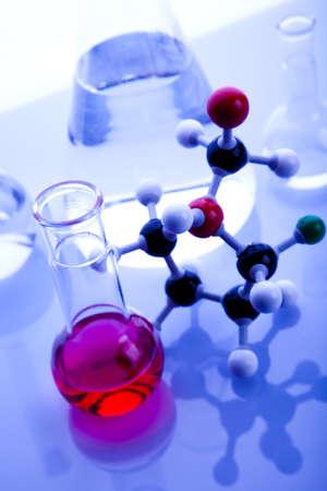 sterilize: Blue chemistry vials