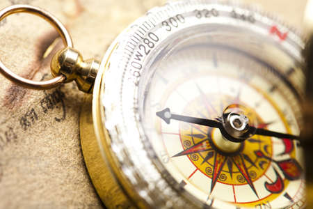 Close up view of the compass Stock Photo - 7386239