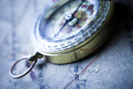 Compass on the old paper background Stock Photo - 7385092