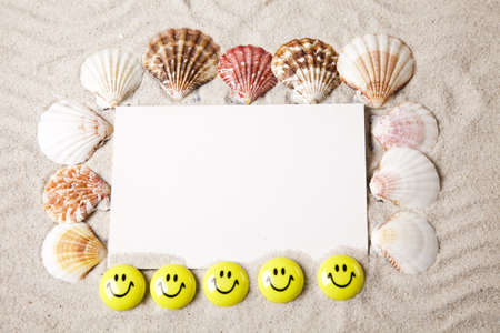 Messages between sands and shells  photo