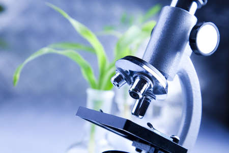 biological: Microscope  Stock Photo