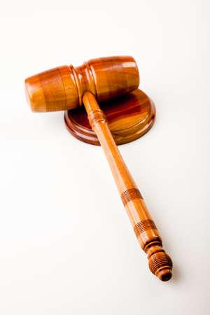 Judges wooden gavel Stock Photo - 7370680