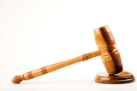 Judges wooden gavel Stock Photo - 7370679