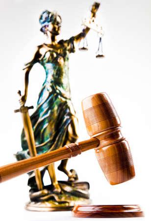 judiciary: Antique statue of justice