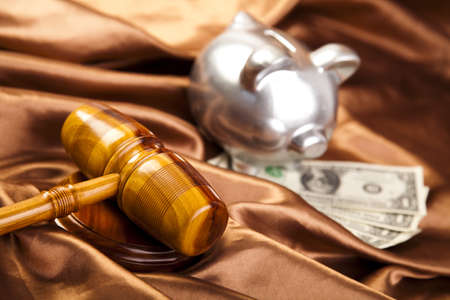 Wooden gavel barrister Stock Photo - 7370702