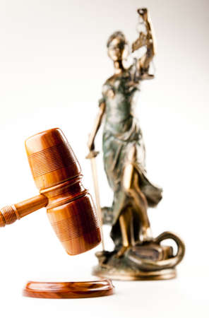 high scale: Justice statue  Stock Photo