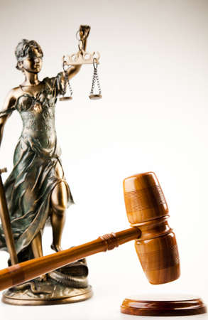 blind justice: Antique statue of justice