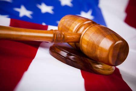 orden judicial: Martillo de juez  Foto de archivo