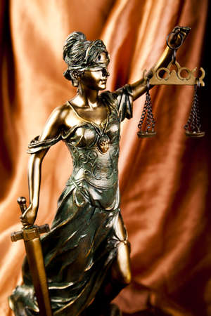 Antique statue of justice photo