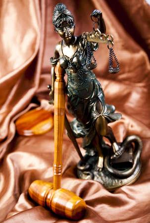 Antique statue of justice photo