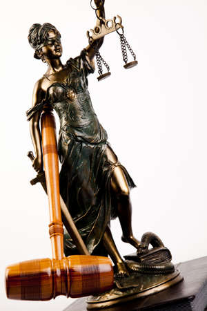 lady justice: Antique statue of justice