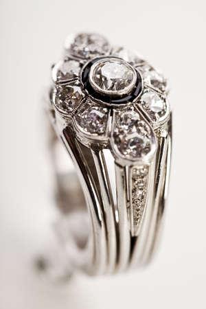 Ring with diamond Stock Photo - 7390824