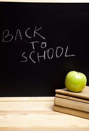 chalk board background: Back to school