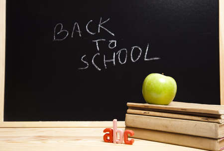 Apple on back to school Stock Photo - 7390821