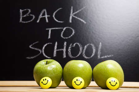 Apple on back to school Stock Photo - 7390834
