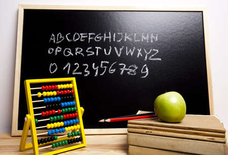 Letters, alphabet, chalkboard  Stock Photo - 7390894