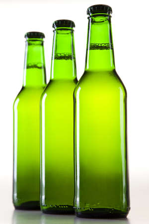 sapid: Bottles of beer against a white background