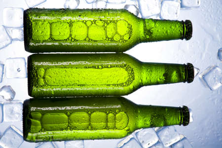 taphouse: Cold beer bottle