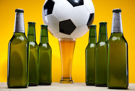 Football beer Stock Photo - 8317703